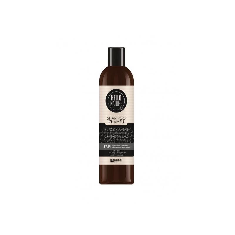 Hello Nature Toitev ja tugevdav šampoon musta kaaviariga 300ml