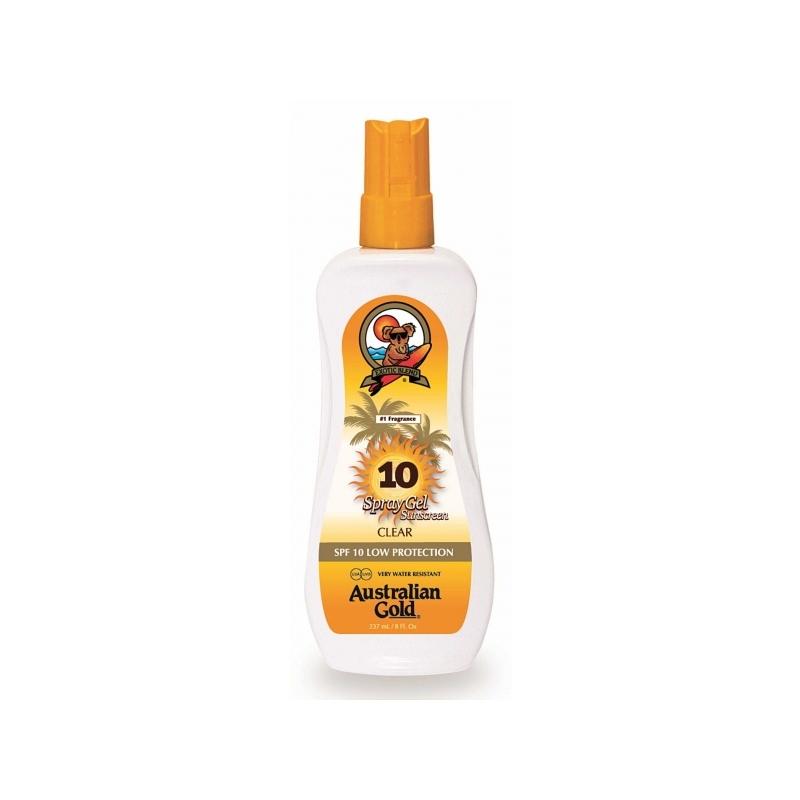 Australian Gold SPF 10 Spray Gel veekindel päikesekaitsesprei 237ml
