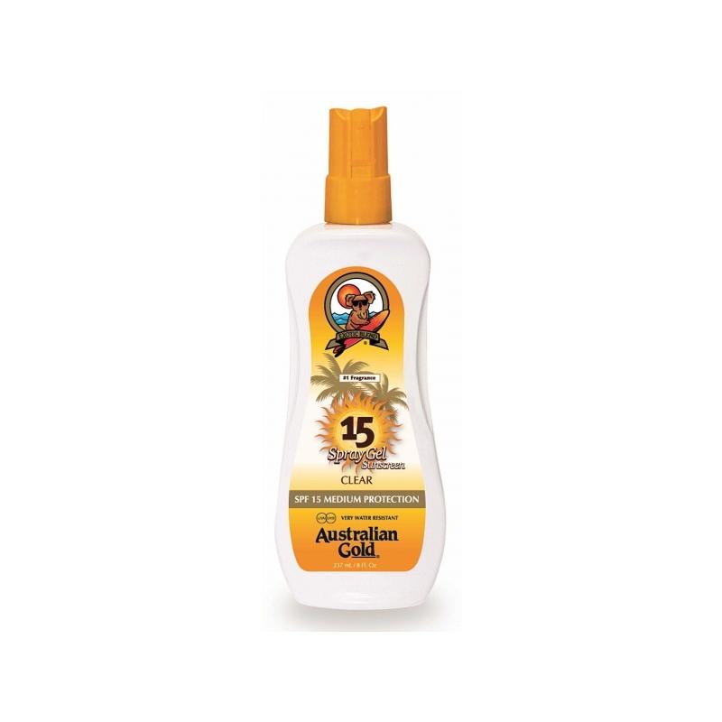 Australian Gold SPF 15 Spray Gel veekindel päikesekaitsesprei 237ml