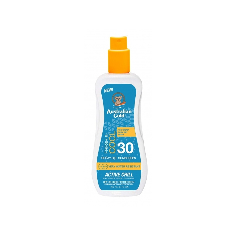 Australian Gold SPF 30 Spray Gel Active Chill päevitussprei 237ml