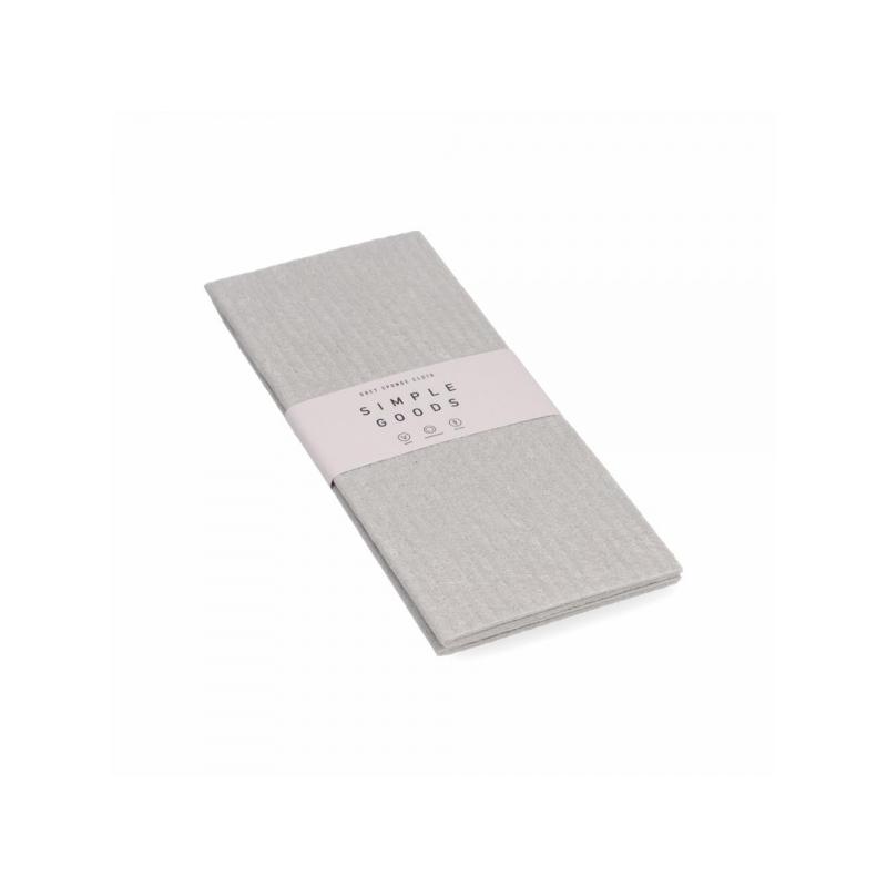 Simple Goods Sponge Cloth Grey majapidamislapid 2tk