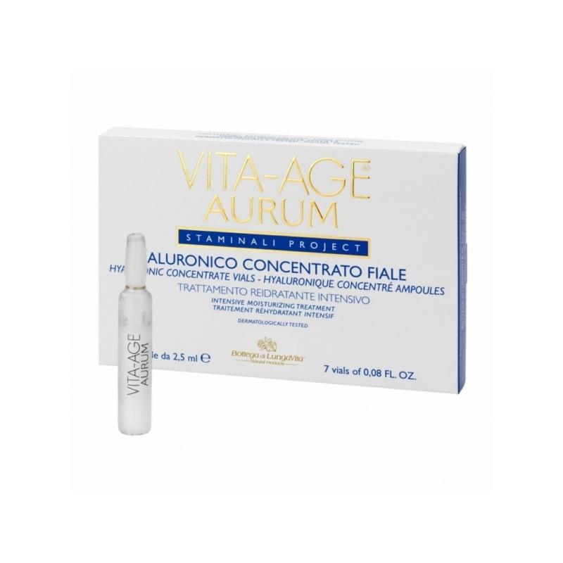 Vita-Age Aurum hüaluroonhappe kontsentraat intensiivhoolduseks 7x2,5ml
