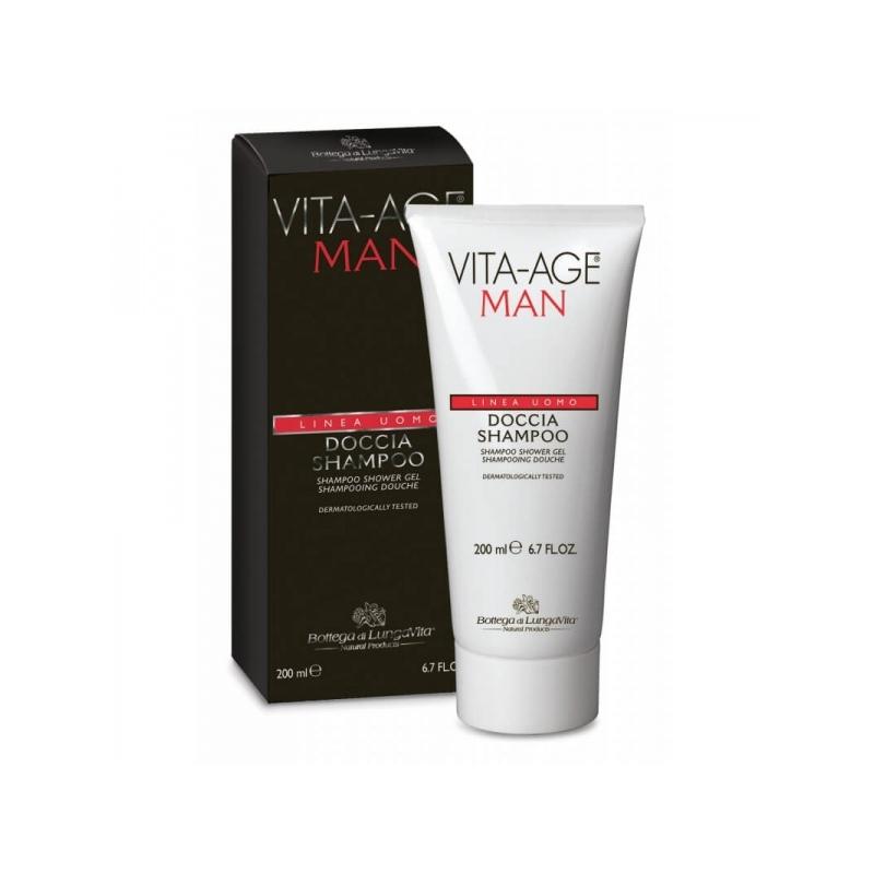 Vita-Age Man värskendav kaks-ühes šampoon ja dušigeel 200ml