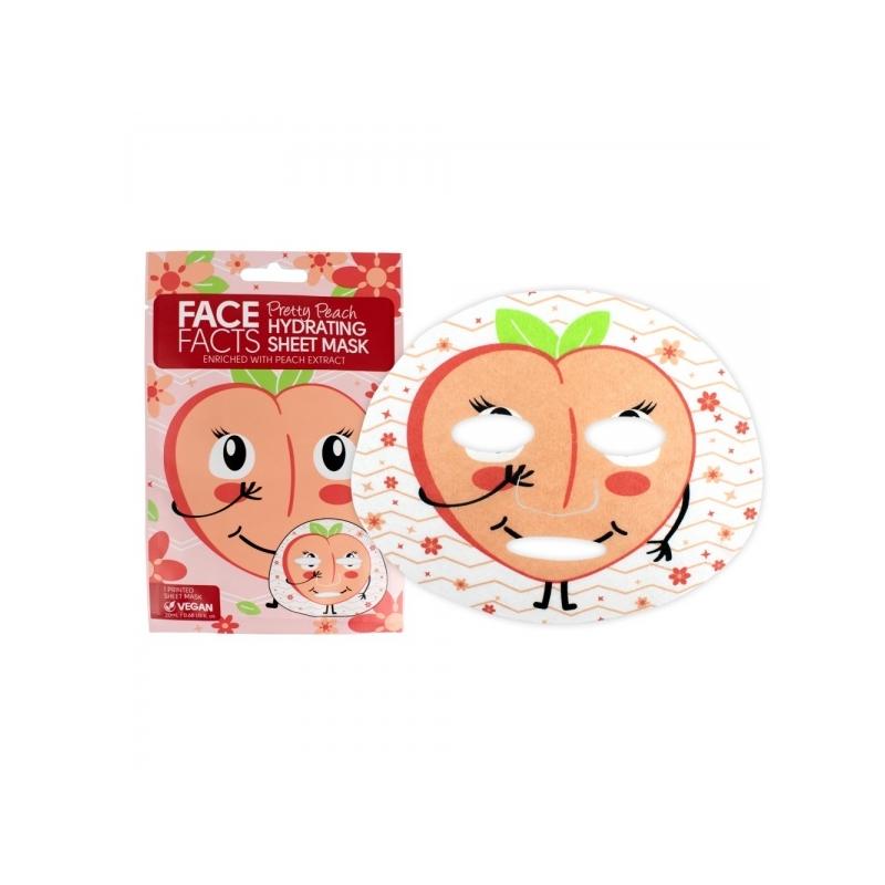 Face Facts Niisutav kangasmask näole virsik