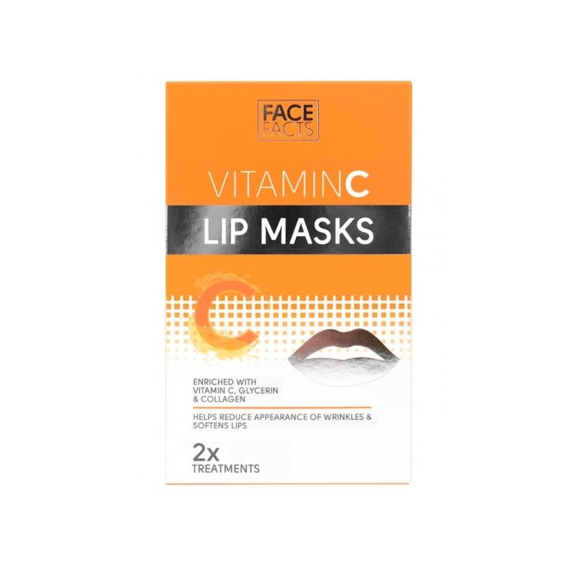 Face Facts Taastav ja pehmendav mask huultele C vitamiiniga 2tk