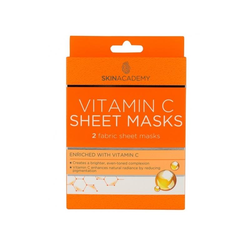 Skin Academy Toniseeriv kangasmask näole C vitamiiniga 2tk