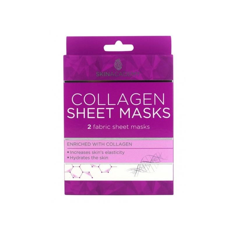 Skin Academy Vananemisvastane kangasmask näole kollageeniga 2tk