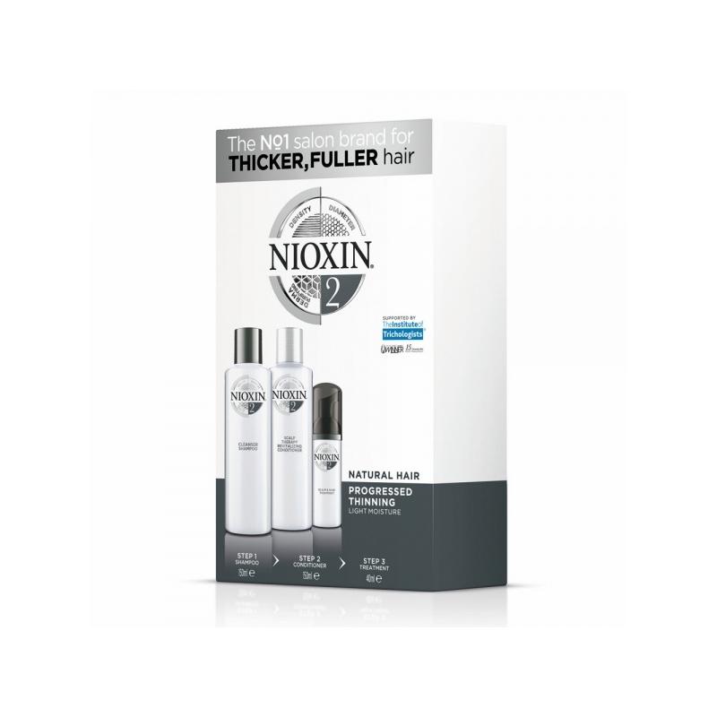 Nioxin System 2 3-Osaline Süsteem (Šampoon+Palsam+Hooldus)