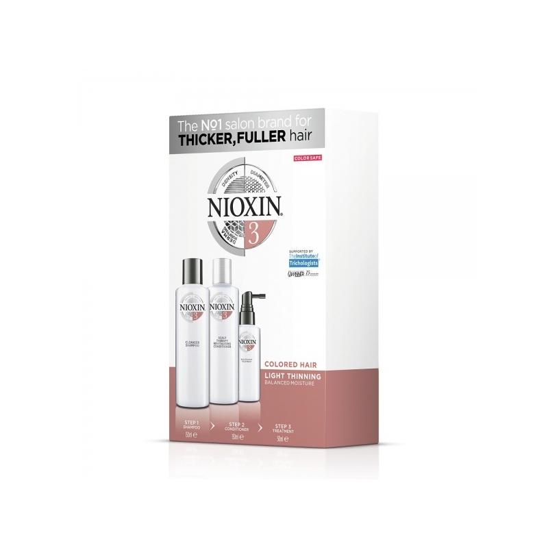 Nioxin System 3 3-Osaline Süsteem Šampoon+Palsam+Hooldus