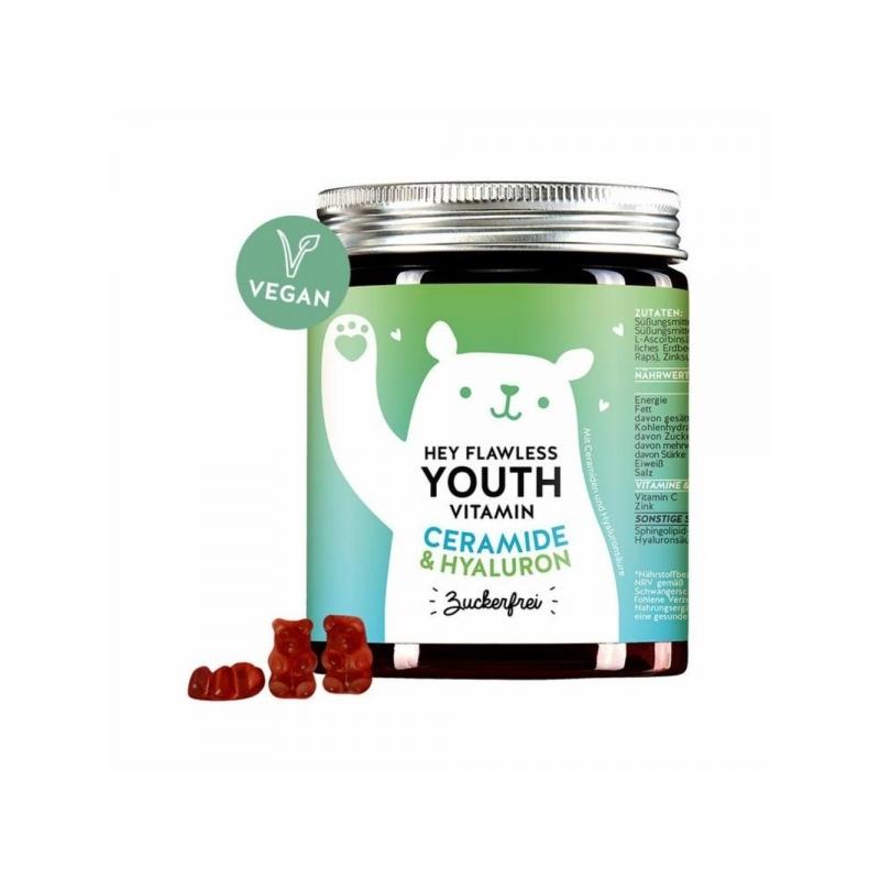 Bears with Benefits Hey Flawless Youth keramiidide ja hüaluroonhappega vitamiinid 60tk