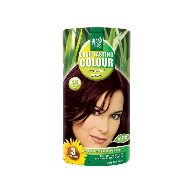 Henna Plus Long Lasting Colour juuksevärv 4.67 red violet brown
