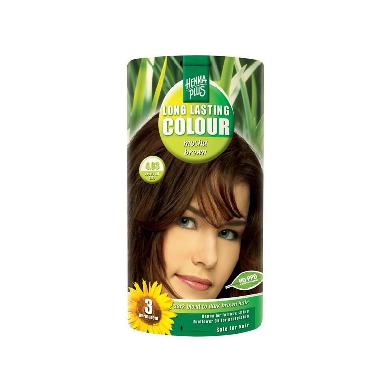 Henna Plus Long Lasting Colour juuksevärv 4.03 mocha brown