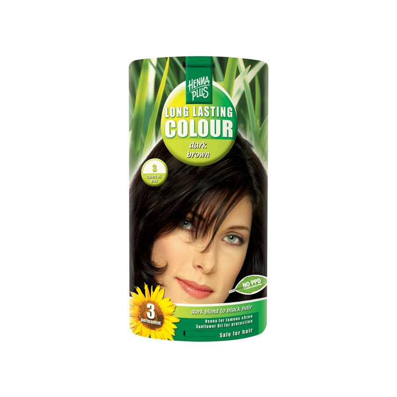 Henna Plus Long Lasting Colour juuksevärv  3 dark brown