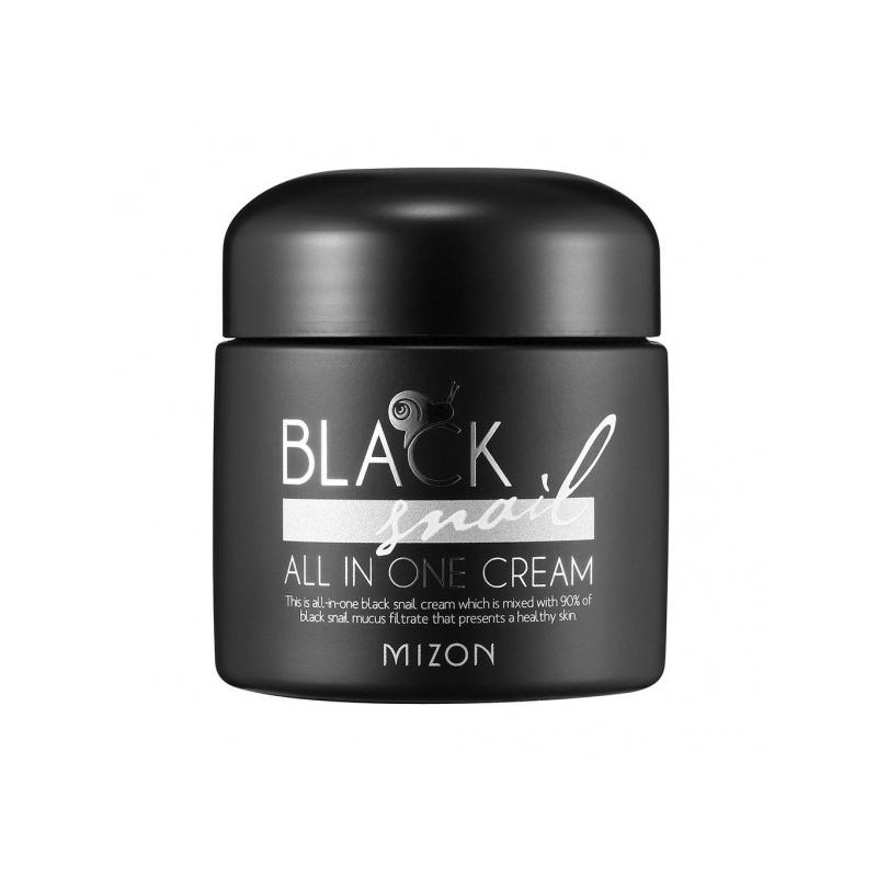 Mizon Black Snail All In One Cream, näokreem 90% musta teo mutsiiniga