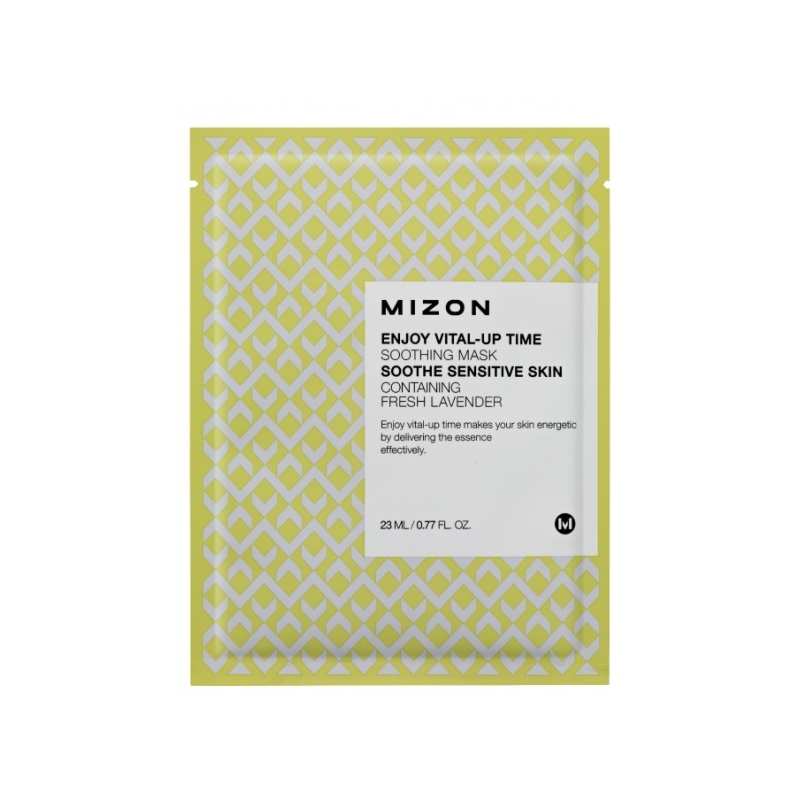 Mizon Enjoy Vital-Up Time Soothing Mask rahustav näomask lavendliga