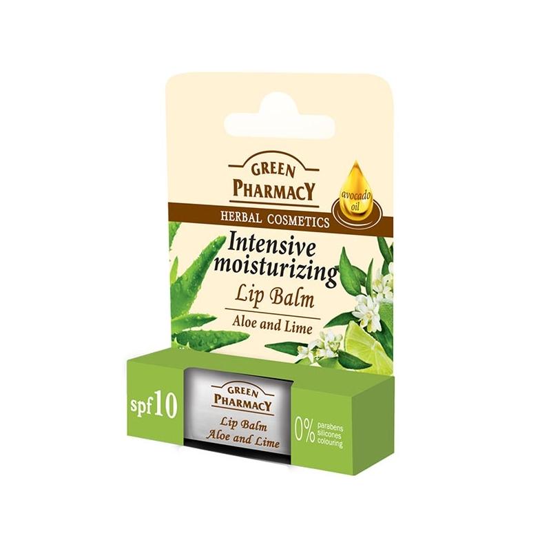 Green Pharmacy Niisutav huulepalsam aaloe-laim