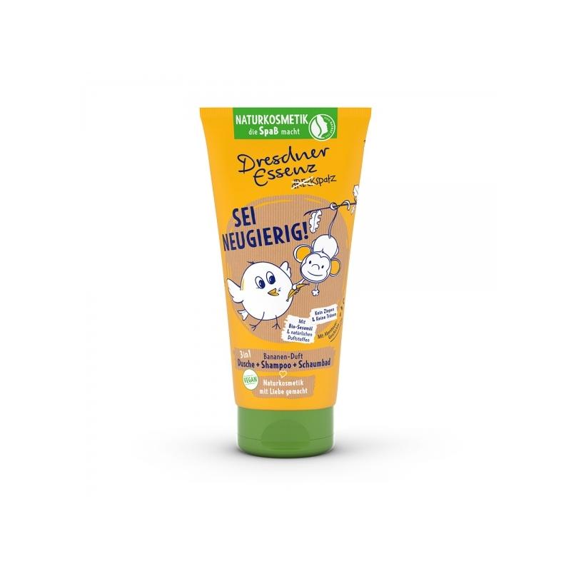 Dresdner Essenz Dirty Birdie laste dušigeel-šampoon banaan