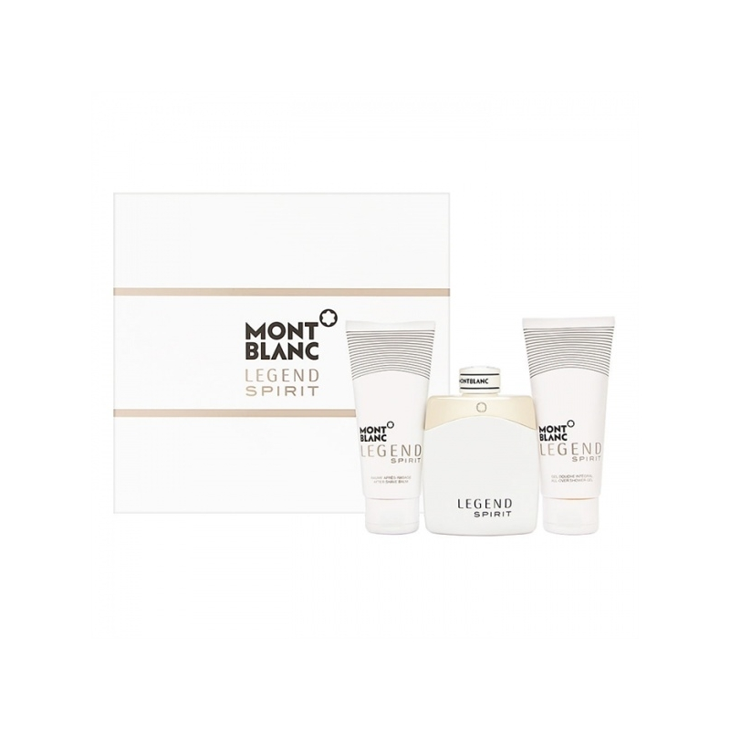Mont Blanc Legend Spirit Set Eau de Toilette 100 ml+After Shave Balm 100 ml+Shower Gel 100 ml