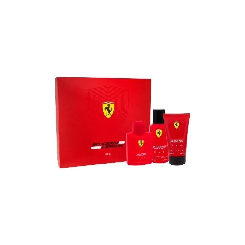 Ferrari Scuderia Red Set Eau de Toilette 125 ml+dušigeel 150 ml+deodorant 150 ml