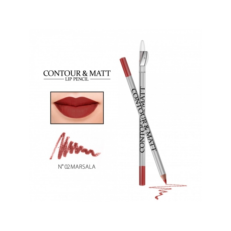 "Revers Contour&Matt huulepliiats 02 ""marsala"""