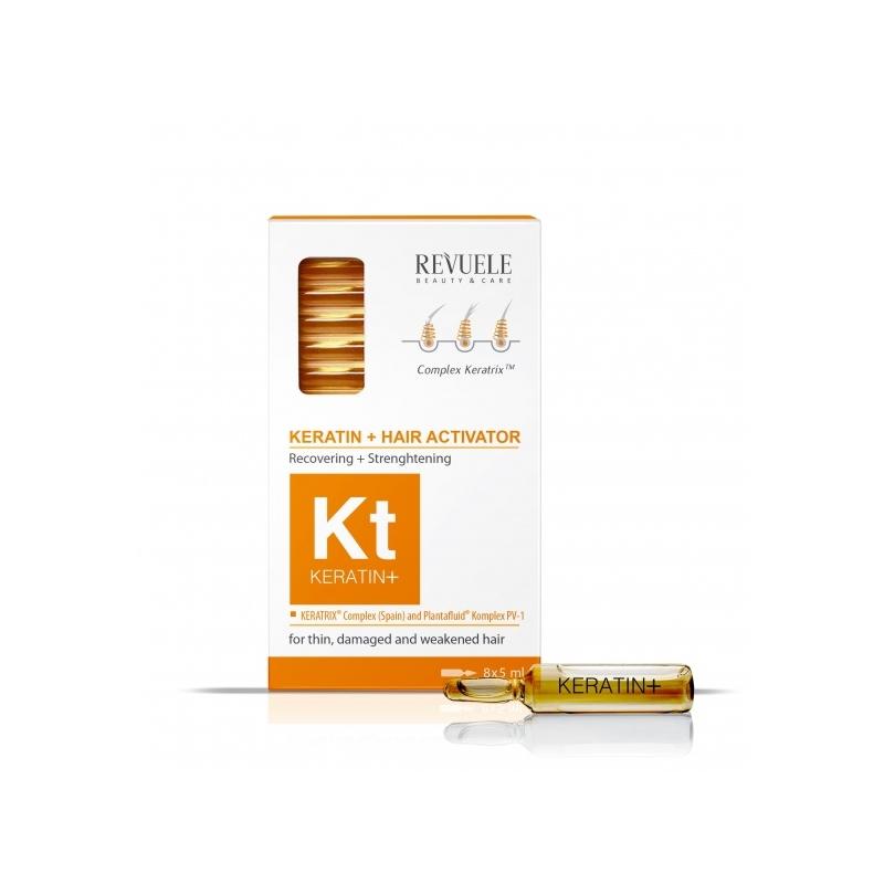 Revuele Keratin+ juukseid tugevdavad ampullid keratiiniga 101180