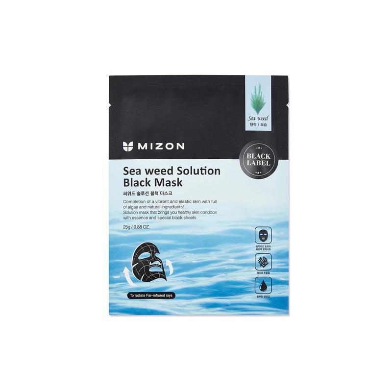 Mizon Sea weed Solution Black Mask kangasmask merevetikate ja vulkaanilise tuhaga