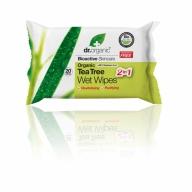 Dr.Organic Teepuu niisked salvrätikud 20 tk.