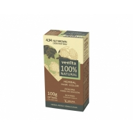 "Venita 100% Natural Herbal henna pulber 4.34 ""nut brown"""