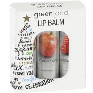 Greenland Huulepalsamite komplekt (passion/granaatõun/maasikas)