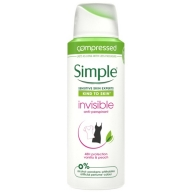 Simple aerosooldeodorant Invisible vanilli-virsiku