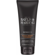 Baylis & Harding dušigeel-šampoon meestele must pipar-ingver 158