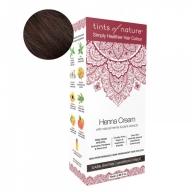 Tints Of Nature Henna Cream Dark Brown Looduslike henna- ja taimeekstraktidega kergvärv, tumepruun