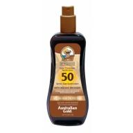 Australian Gold SPF 50 Spray Gel with bronzer päikesekaitsesprei isepruunistajatega 237ml