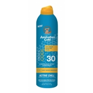 Australian Gold SPF 30 Continius Spray Active Chill päevitussprei186ml