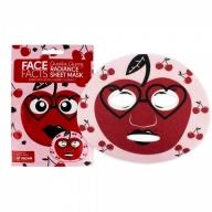Face Facts Sära andev kangasmask näole kirss