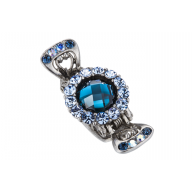 Evita Peroni Heliconia Juukseklamber Mini Shark blue