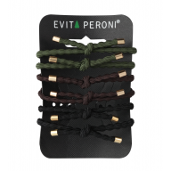 Evita Peroni Poppy Juuksekummid Pony Elastic brown, 6 tk pakendis