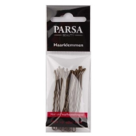 PARSA 26525 juukseklambrid 8 cm/18 tk/pruunid