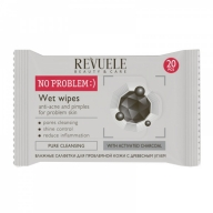 Revuele No Problem Wet Wipes, salvrätid aktiivsöega probleemsele nahale