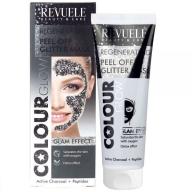 Revuele Peel Off Glitter Mask taastav mask söe ja peptiididega 100862