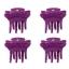 Evita Peroni Zu Mini Shark Juukseklamber, 4tk pakendis purple