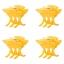 Evita Peroni Zu Mini Shark Juukseklamber, 4tk pakendis yellow
